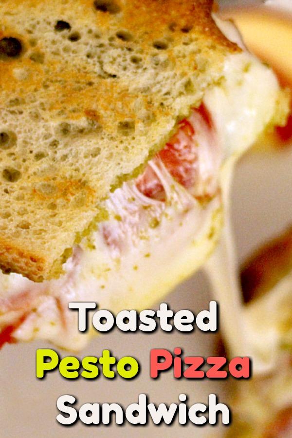 These savory pesto grilled cheese sandwiches with tomatoes and pepperoni are simple to make and incredibly satisfying! #pesto #pepperoni #grilledcheese #sandwich #easyrecipe #thewearchef