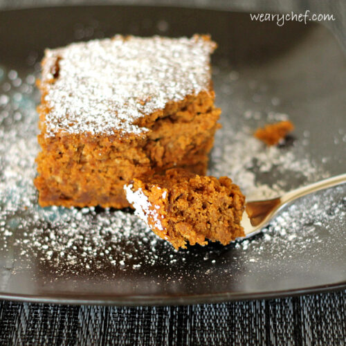3-Ingredient Spiced Rum Pumpkin Dump Cake