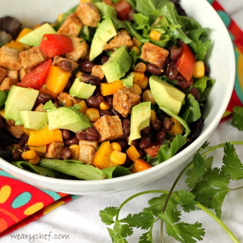 Southwestern Salad with Pork