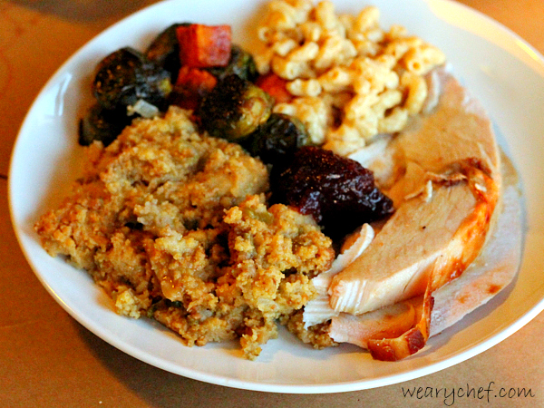 The Weary Chef's Thanksgiving Plate