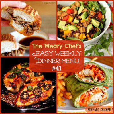 Easy Weekly Dinner Menu #41: Halloween Catch Up