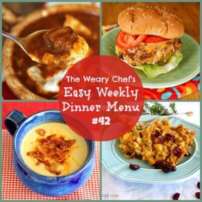 Easy Weekly Dinner Menu #42: Soup's on!