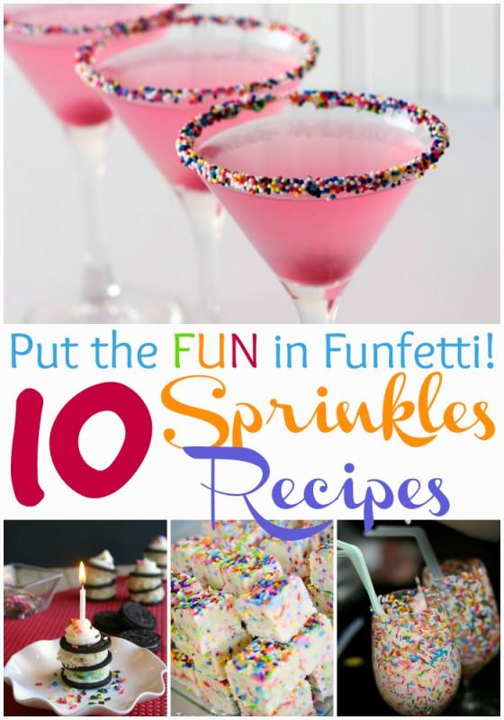 Put the Fun in Funfetti! - 10 Sprinkles Recipes via wearychef.com