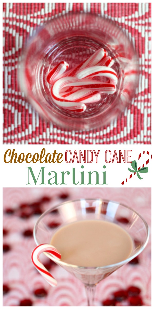 Chocolate Candy Cane Martini with Homemade Peppermint Vodka - Perfect cocktail for the holidays!