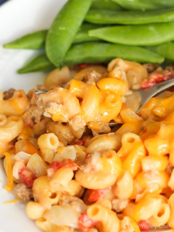 Skillet Cheeseburger Pasta is a one-pan wonder your family will love. It comes together in under a half hour and is loaded with flavor and protein. It's your favorite cheeseburger macaroni from scratch!