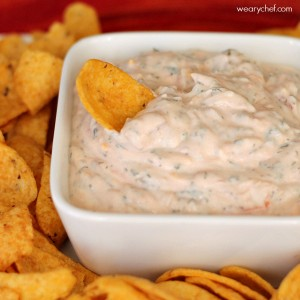 Super Easy Sour Cream Mexican Dip #appetizer #easyrecipe