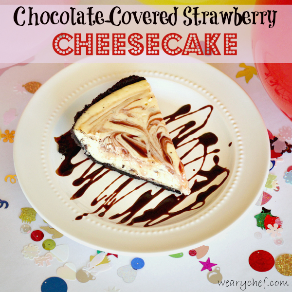Chocolate Covered Strawberry Cheesecake #dessert #cheesecake