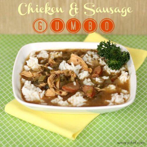 The Best Chicken and Sausage Gumbo #cajun