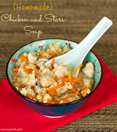 Homemade Chicken and Stars Soup