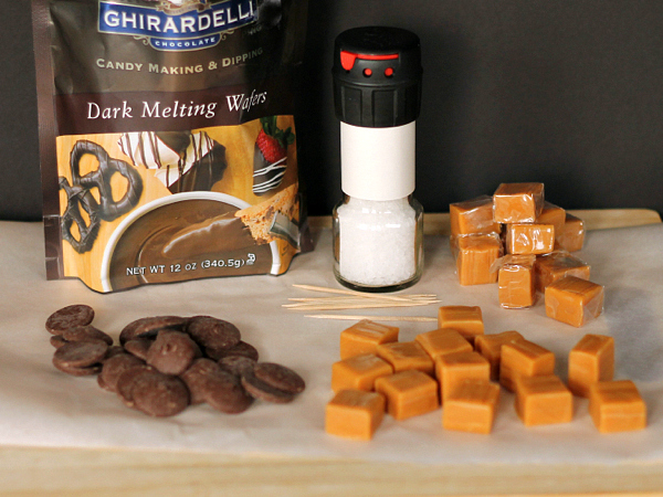 Homemade Salted Caramels and Valentine's Cookies #BakeWithGhirardelli #sponsored