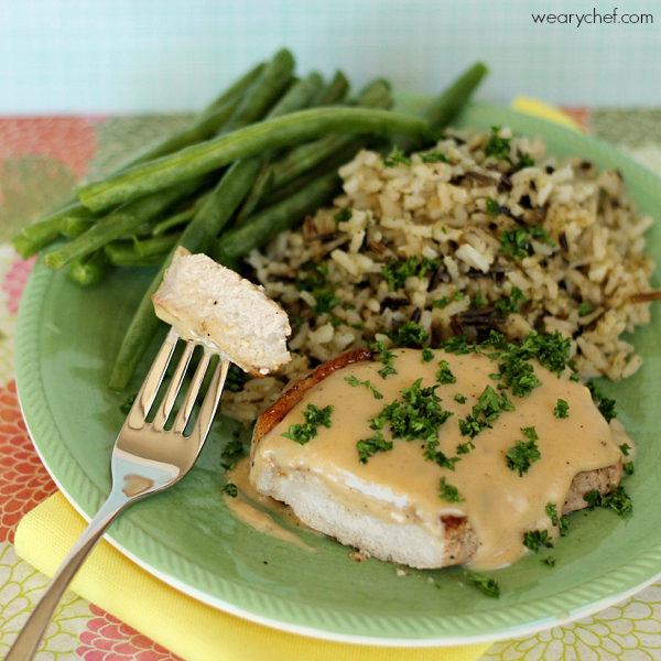 Pork Chops with Apple Gravy
