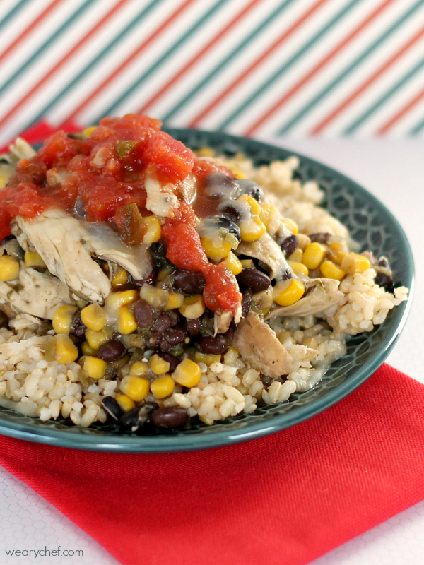 5 Ingredient Southwest Chicken Rice Bowls The Weary Chef