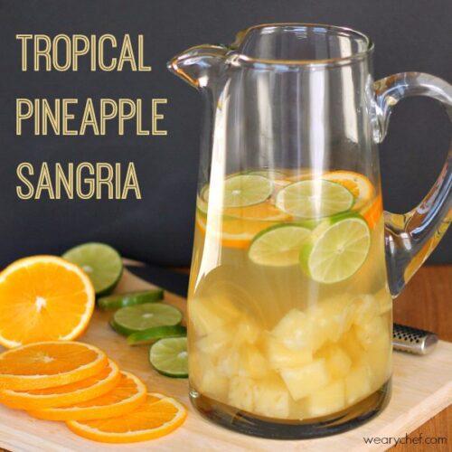 Tropical Pineapple Sangria
