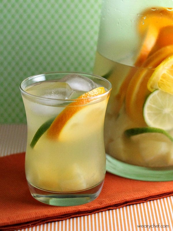 Tropical Pineapple Sangria - Feel like you are on a tropical vacation right in your own back yard!