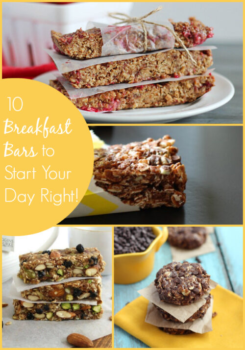 10 Easy Breakfast Bars to Start Your Day Right! #breakfast
