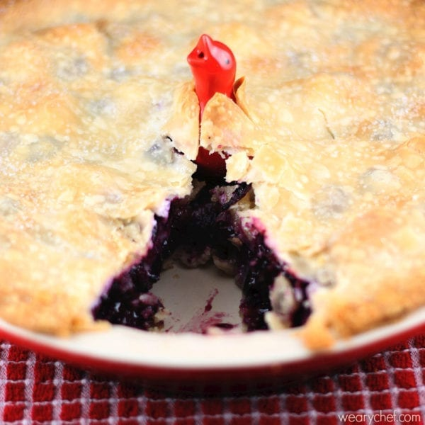 Easy Blueberry Pie and How to Use a Pie Bird