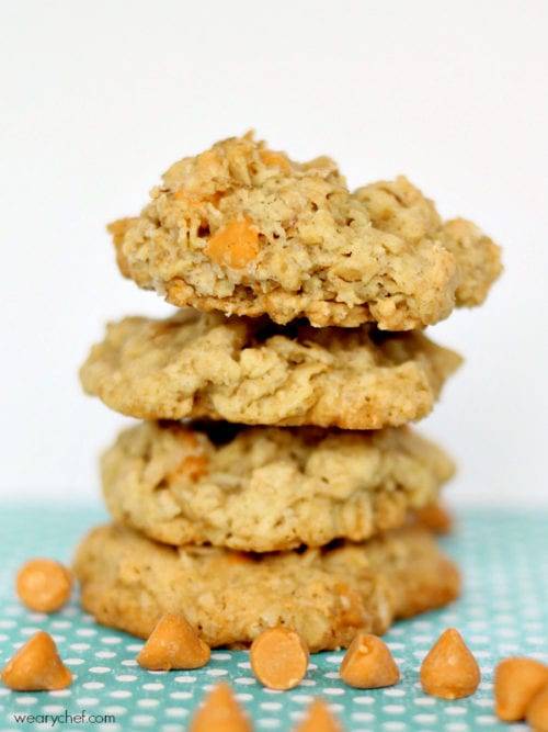 Butterscotch Oatmeal Cookies (Copycat Oatmeal Scotchies) - The Weary ...