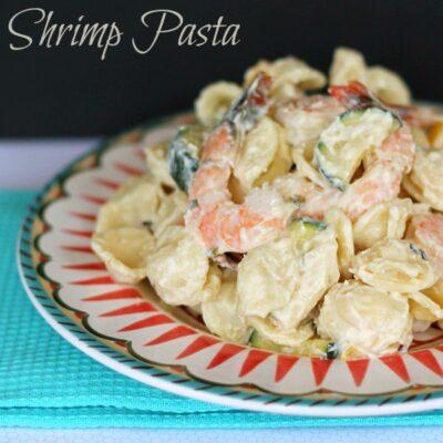 Creamy Dijon Alfredo with Shrimp
