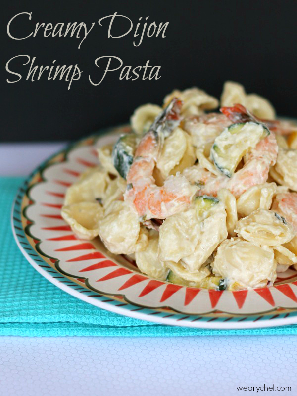 This  creamy dijon alfredo pasta with shrimp is perfect for a date night at home!