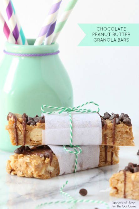 No Bake Peanut Butter Granola Bars | Spoonful of Flavor (for This Gal Cooks)