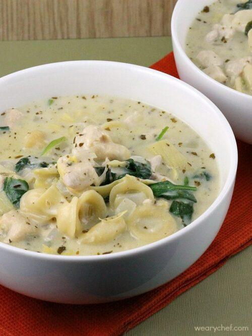 Creamy Pesto Chicken Soup