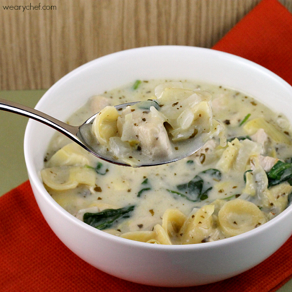Creamy Pesto Chicken Soup - The Weary Chef