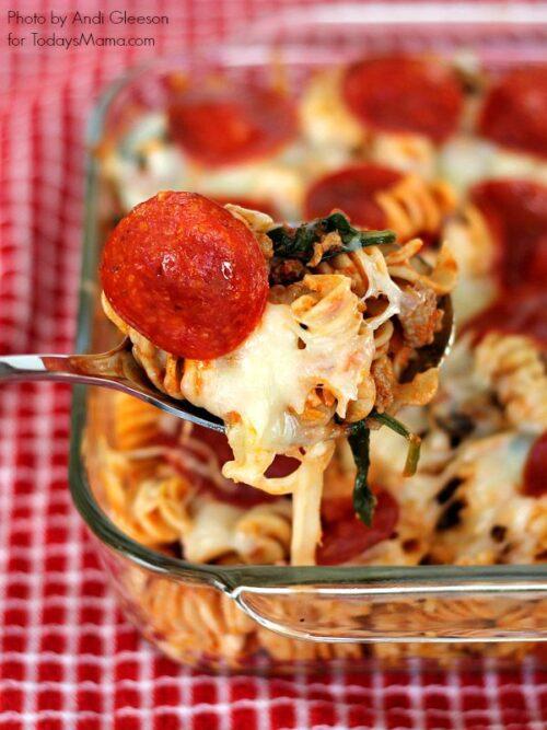Pizza Pasta Bake #dinner #family