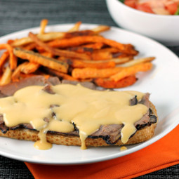 Open-Faced Roast Beef Sandwiches with Beer Cheese Sauce