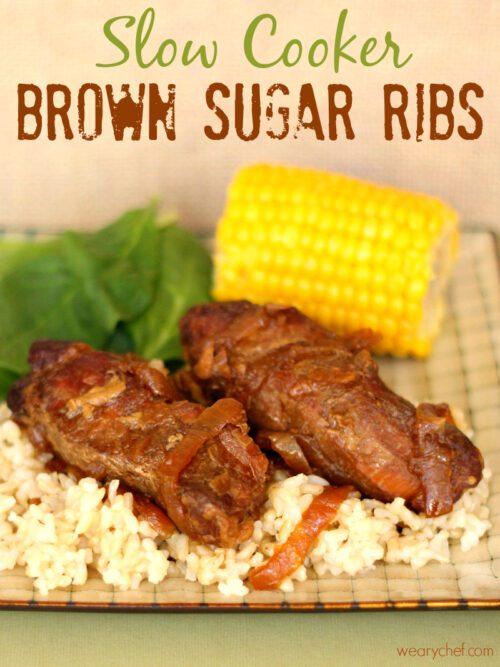 5-Ingredient Slow Cooker Brown Sugar Ribs