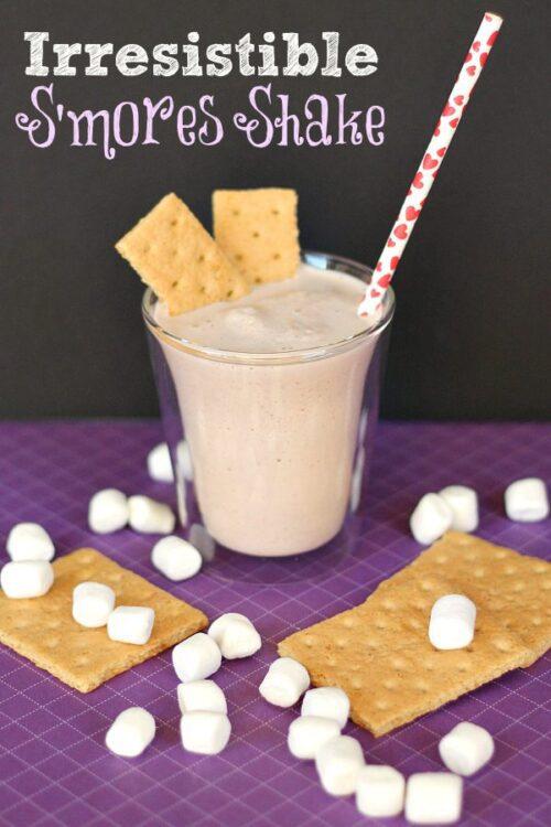 Irresistible S'mores Milkshake #TruMoo #sponsored