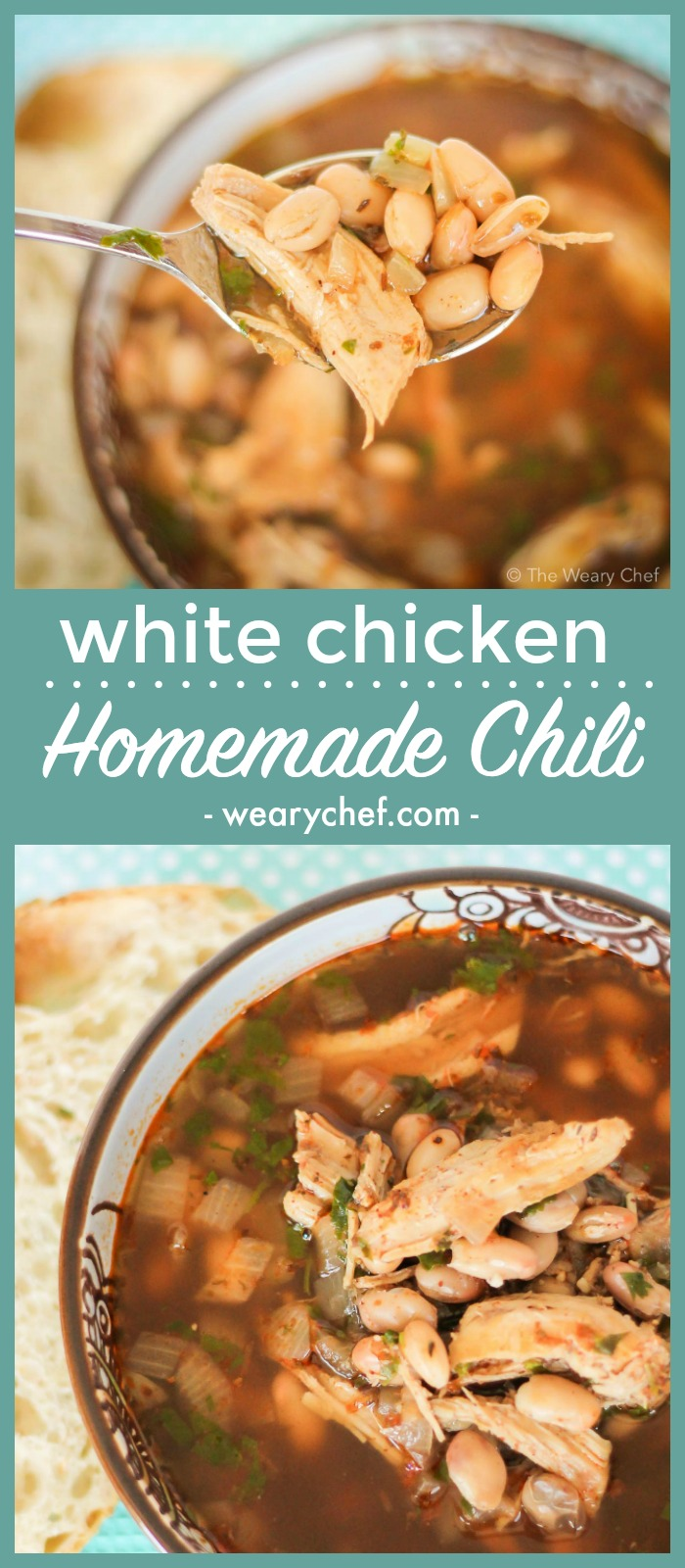 This easy, flavorful white chicken chili recipe has been a favorite soup recipe at our house for years!