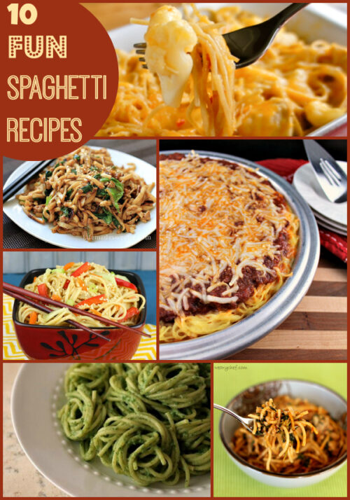 10 Fun Spaghetti Recipes #dinner #pasta