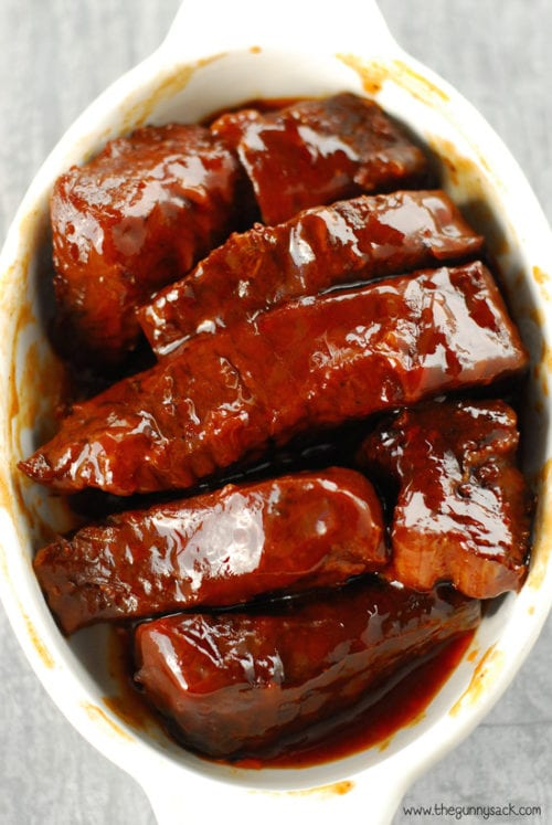 Slow Cooker BBQ Ribs by The Gunny Sack
