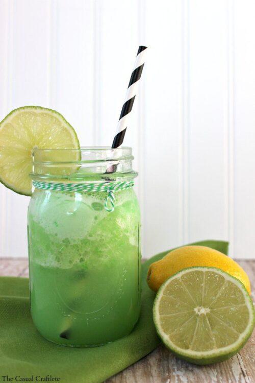 Lemon Lime Sherbet Punch | The Casual Craflete