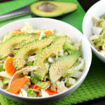Healthy Chinese Chicken Salad with Sesame Dressing