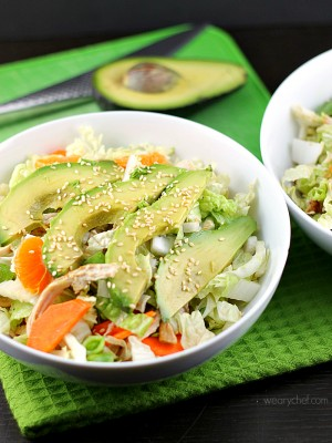 Healthy Chinese Chicken Salad #healthy #dinner #salad