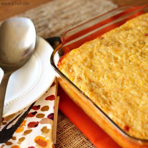 Cornbread Casserole with Chicken (or not!)