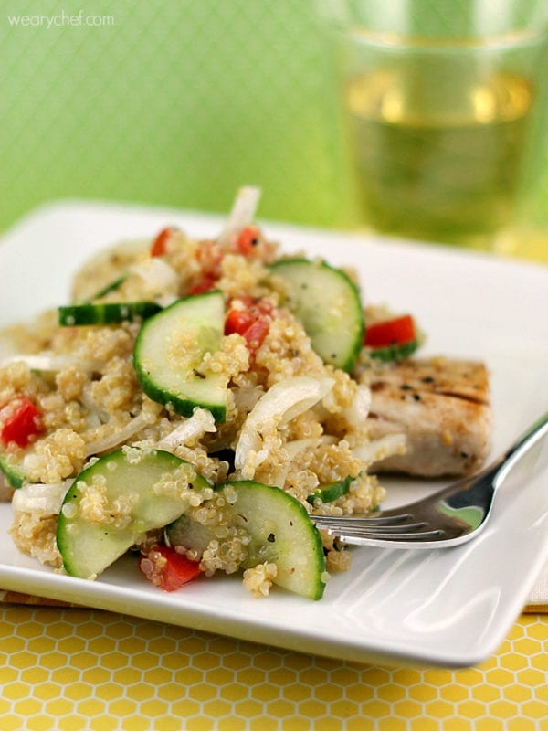 Quinoa and Cucumber Salad Recipe | The Weary Chef
