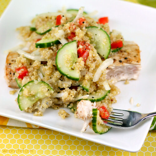 Quinoa and Cucumber Salad Recipe #healthy #quinoa #sponsored