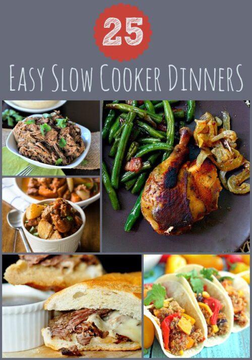 25 Easy Slow Cooker Dinners #crockpot #slowcooker