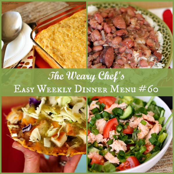Easy Weekly Dinner Menu #60: Simple Southern Dinners and more! #mealplanning #dinnerideas