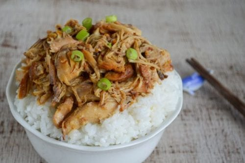 Slow Cooker Orange Ginger Chicken | Nibbles and Noshes