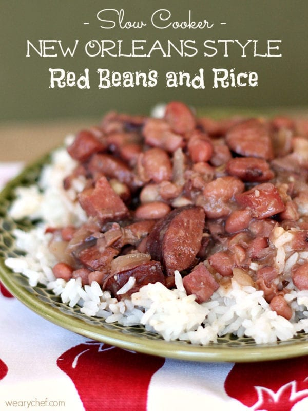 Slow Cooker Red Beans and Rice #slowcooker #crockpot #cajun