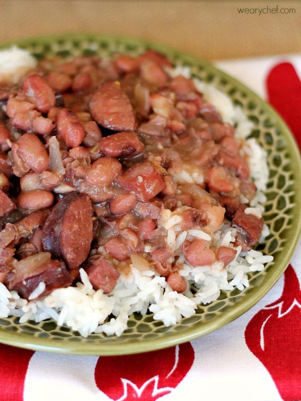 Slow Cooker Red Beans and Rice by The Weary Chef