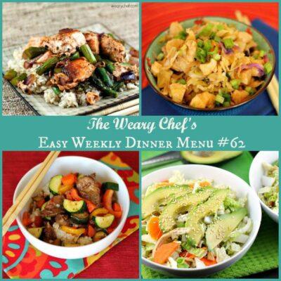 Asian Dinner Recipes: Easy Weekly Dinner Menu #62
