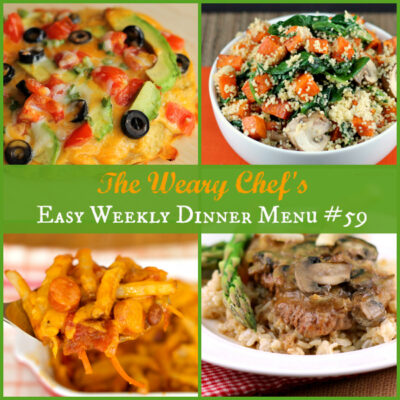 Easy Weekly Dinner Menu #59: Recipe Revamps