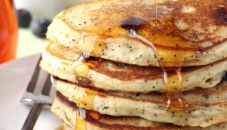 Lemon Blueberry Poppy Seed Pancakes |Cooking on the Front Burner