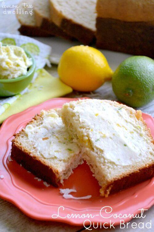 Lemon Coconut Quick Bread with Citrus Honey Butter | Lemon Tree Dwelling