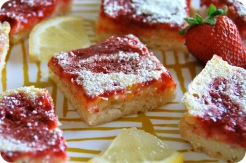 Strawberry Lemon Bars by Flying on Jess Fuel