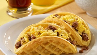 Sausage and Egg Waffle Tacos | The Casual Craftlete